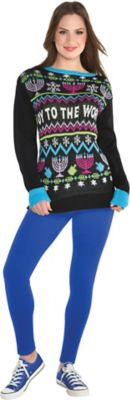 Oy to the World Ugly Hanukkah Sweater - Size - L/XL