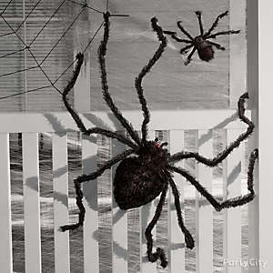 giant spiders spider webs halloween decorations - Halloween Party Supplies