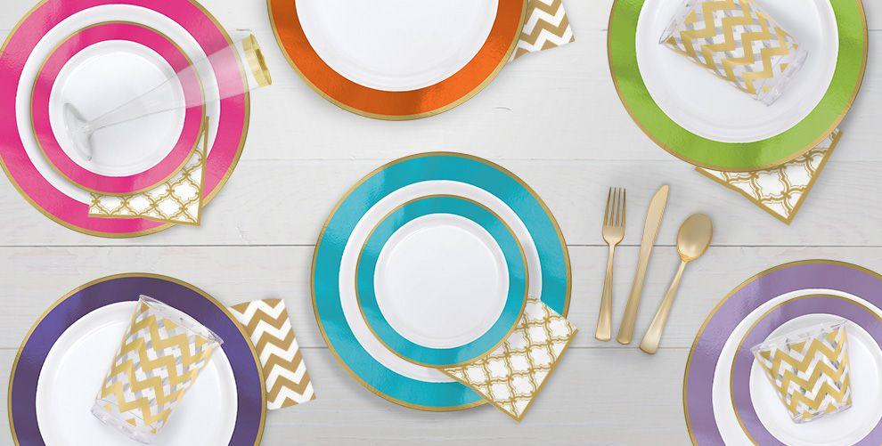 Colorful Border Premium Tableware