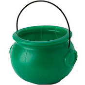 Green Pot of Gold Cauldron 8in