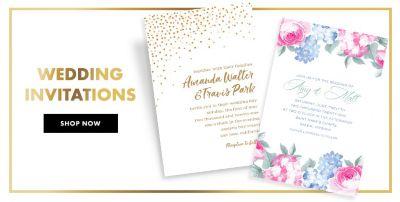 Toledo city paper wedding invitations