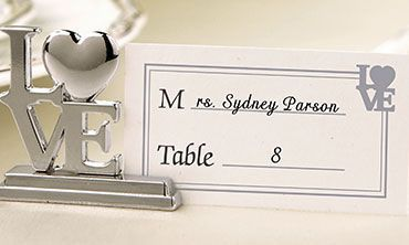 Place Card Holders, Frames