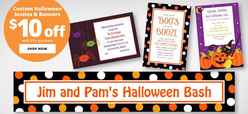 Custom Halloween Invitations & Banners