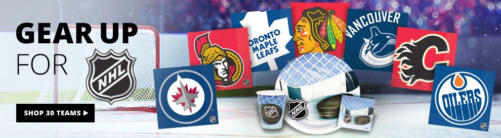 Gear Up For NHL — NHL Party Supplies –  Shop Now