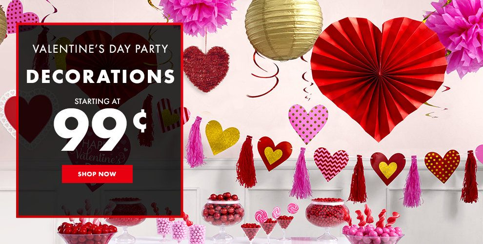 Valentine's Day Party Decorations Starting at $1.99 Shop Now