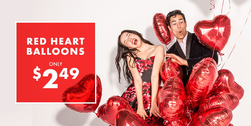 Valentine's Day Party Red Heart Balloons Only $2.49 Shop Now