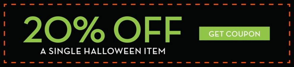 20% Off Single Halloween Item