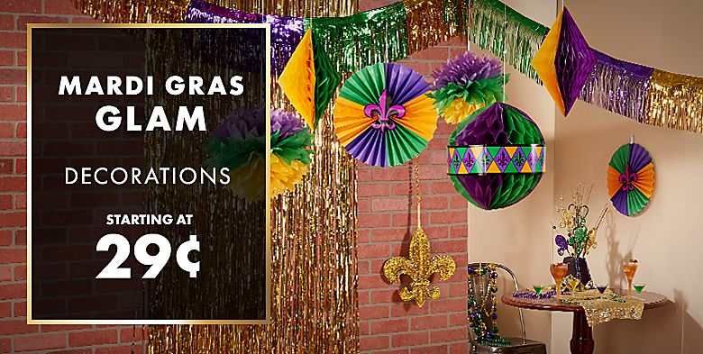 Mardi Gras Decorations - starting at $0.29;