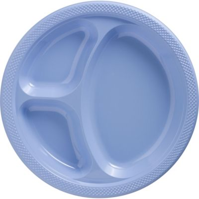 10 1/4in Plastic Plates | SKU 181674  sc 1 st  Party City & Pastel Blue Plastic Divided Dinner Plates 20ct | Party City