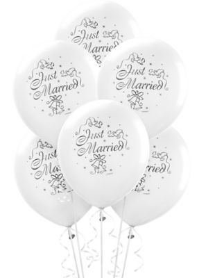just married wedding balloons party city 100th Birthday Party Favors wedding balloons 15ct just married
