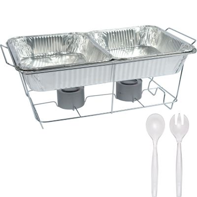 Chafing Dish Buffet Set 8pc Party City, Disposable Buffet Warmers