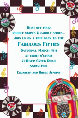 Custom Sock Hop Invitations