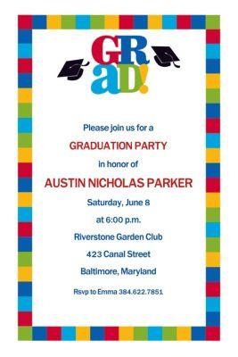 Custom Bravo Grad Graduation Invitations