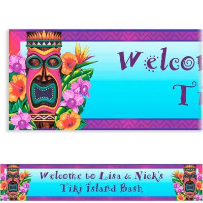 Custom Luau Tiki Island Banner 6ft