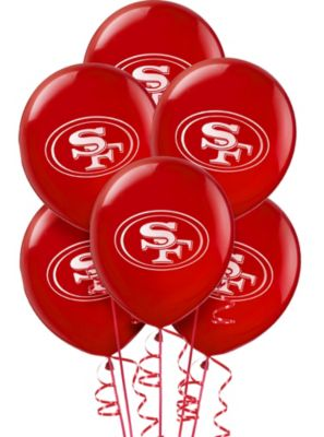 San Francisco 49ers Balloons 6ct