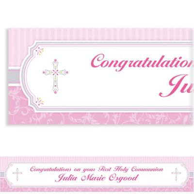 Custom Pink Communion Blessings Banner 6ft