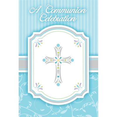 Boy's Communion Invitations 8ct