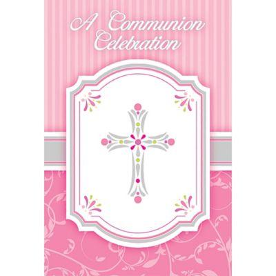 Girl's Communion Invitations 8ct