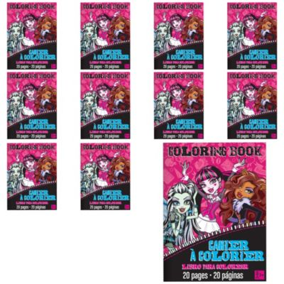 Monster High Coloring Books 48ct Party City