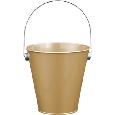 Gold Metal Favor Pail 4 1 4in X 4 1 2in Party City