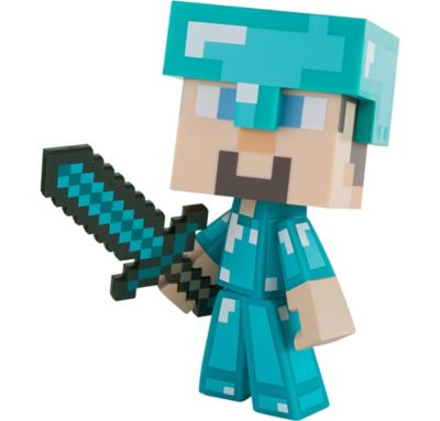 Steve Action Figure Playset 3pc Minecraft Party City
