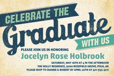 Custom Retro Graduation Invitation