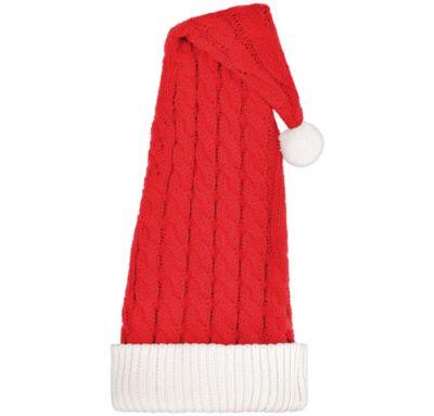 Super soft hand knitted santa hat