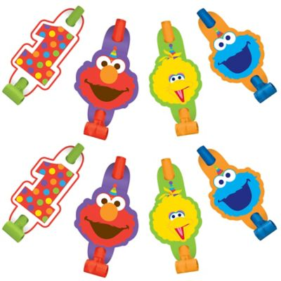 Sesame Street Elmo Star Birthday Party Supplies Favors Paper Cone Hats 8