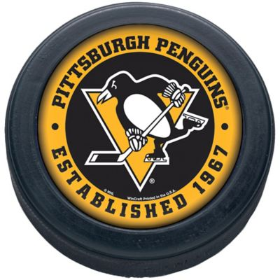 Pittsburgh Penguins Christmas Advertisment 2020 Hockey Pucks Pittsburgh Penguins Hockey Puck 3in x 1in   Party City