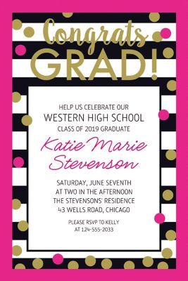 Custom Confetti Graduation Invitation