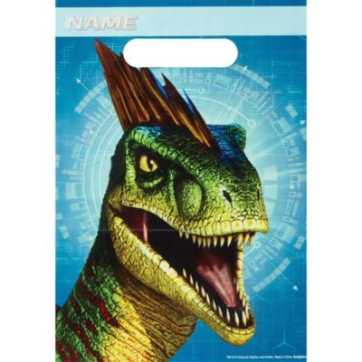 Party Supplies Bunting Banner Cake Flag 4x Dinosaur Jurassic Lolly Loot Bag Box
