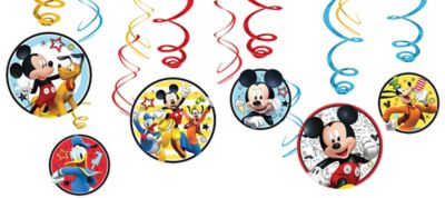 Mickey Mouse Swirl Decorations 12ct