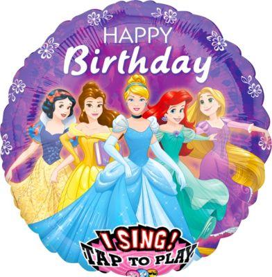 Singing Disney Princess Birthday Balloon