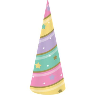 8ct Candy Striped Party Blowers