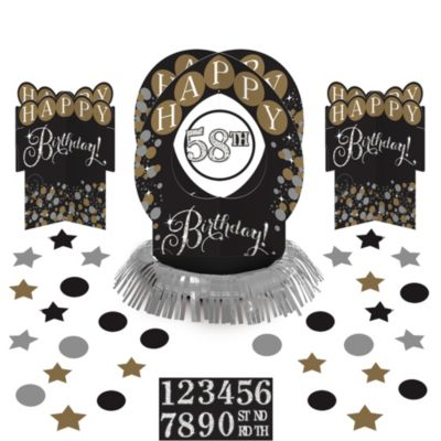 Birthday Badge And Banner Set 2 Piece Boys /& Girls Birthday Party Sparkle Effect