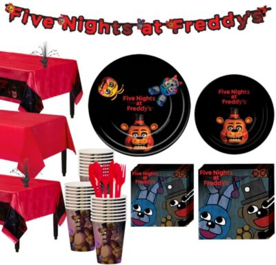 Five Nights At Freddys Tableware Party Kit For 24 Guests