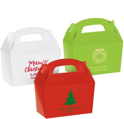 Personalized Christmas Gable Boxes