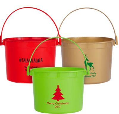 Personalized Christmas Favor Containers