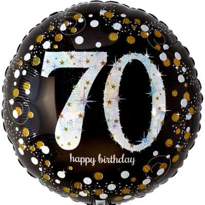 Prismatic 70th Birthday Balloon 17 1 2in