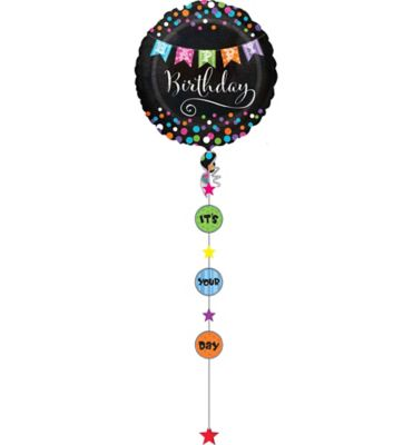 Giant Happy Birthday Balloon With Weight Tail