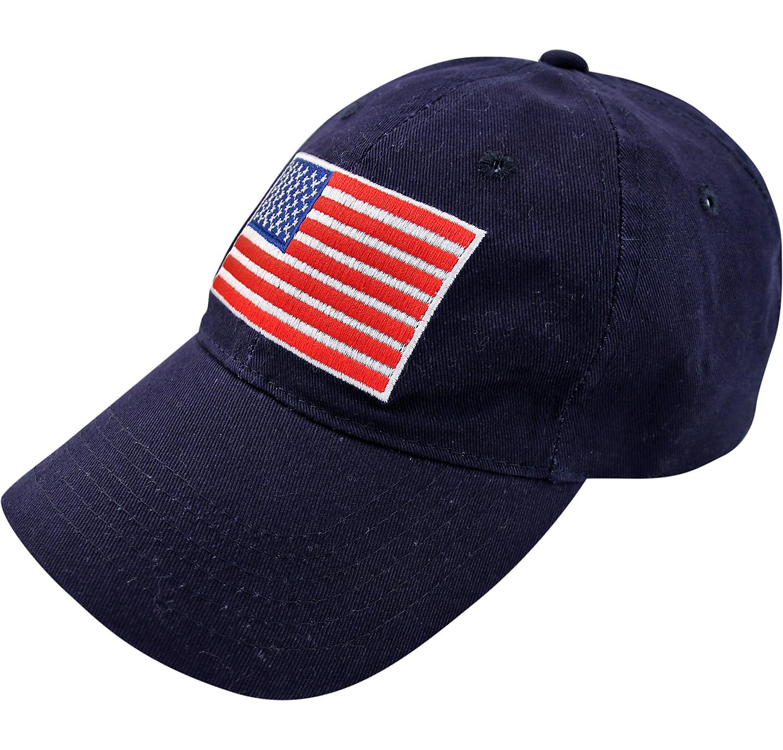 Patriotic American Flag Baseball Hat 7in x 6in  1732b7b91c75