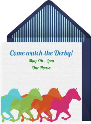 Online Derby Colors Invitations