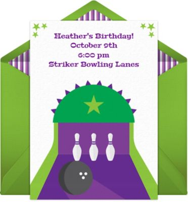 Online Bowling Invitations