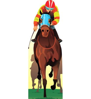 Giant Horse and Jockey Standee