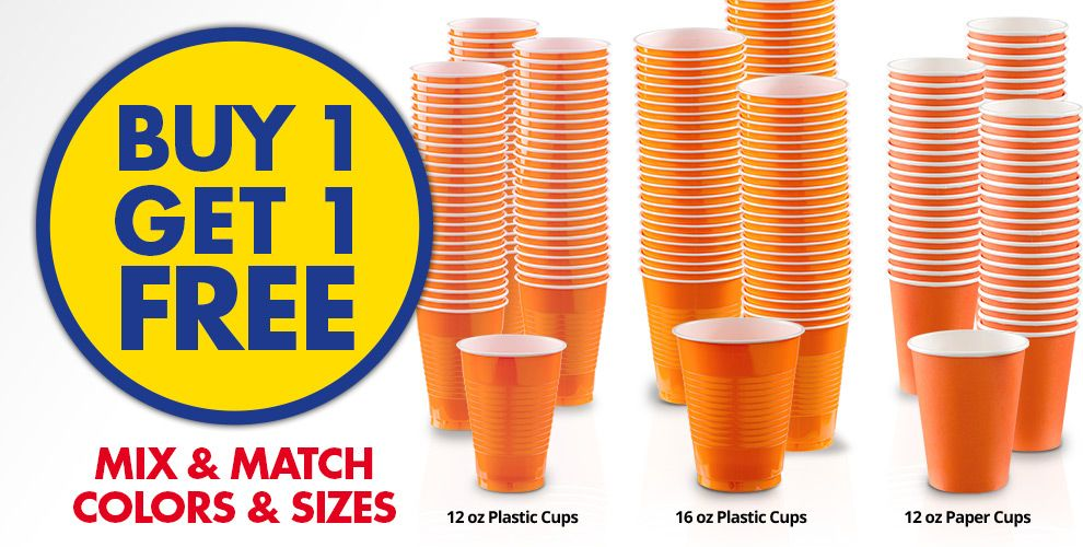Buy 1 Get 1 Free – Mix & Match Colors &amp Sizes — Orange Tableware