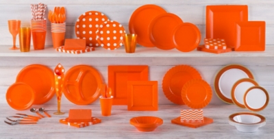 Orange Tableware; Orange Tableware ... & Orange Tableware - Orange Party Supplies | Party City Canada