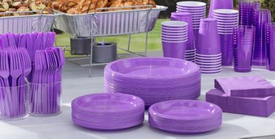 Purple Tableware; Purple Tableware ... & Purple Tableware - Purple Party Supplies   Party City Canada
