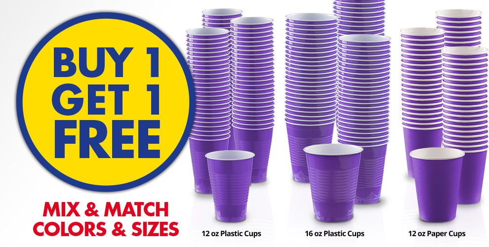 Buy 1 Get 1 Free – Mix & Match Colors &amp Sizes — Purple Tableware