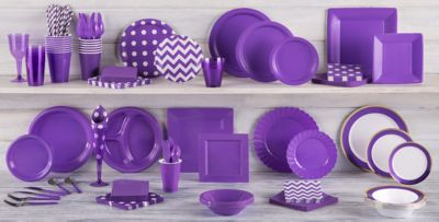 Purple Tableware; Purple Tableware ... & Purple Tableware - Purple Party Supplies | Party City