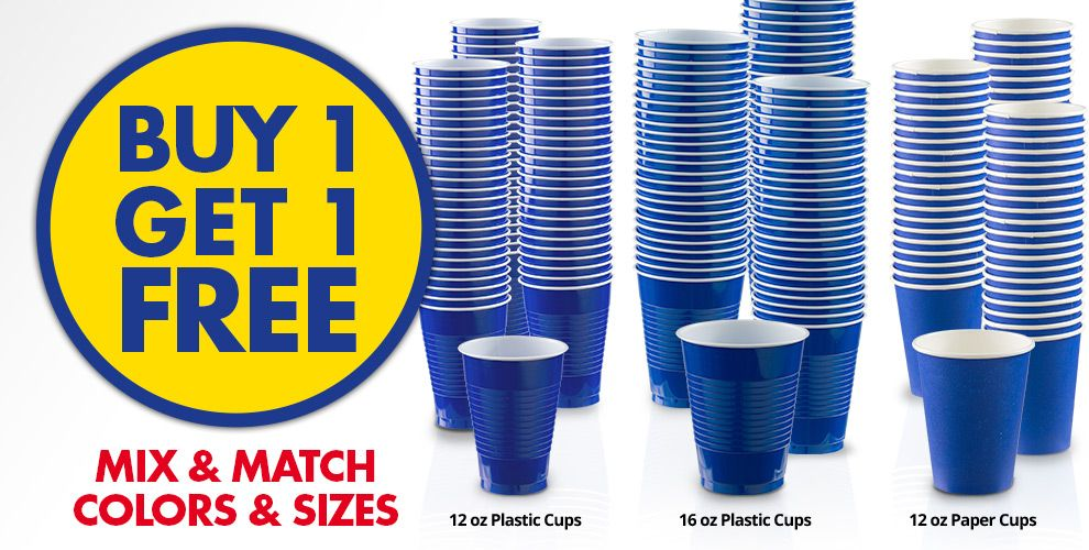 Buy 1 Get 1 Free – Mix & Match Colors &amp Sizes — Royal Blue Tableware